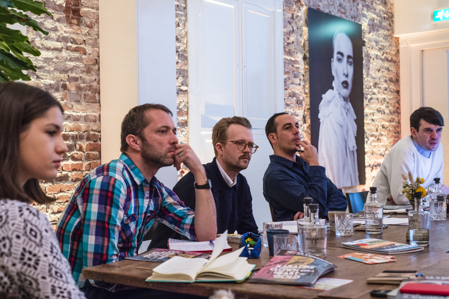 Sune Gudmundsson (centre), Koncentrat director and journalist, at an Accelerator event earlier this year