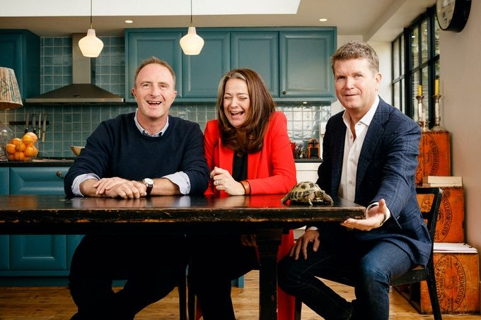 Founders of Tortoise Media, James Harding, Katie Vanneck-Smith, Matthew Barzun